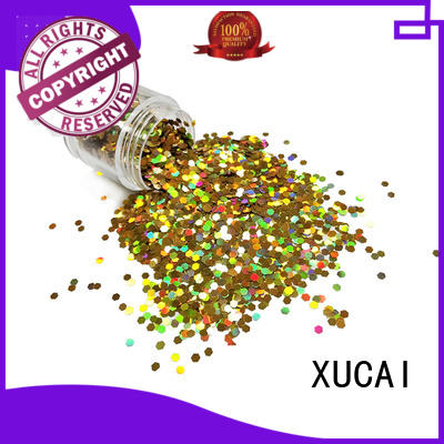 XUCAI heart holographic nail powder supplier for crafts