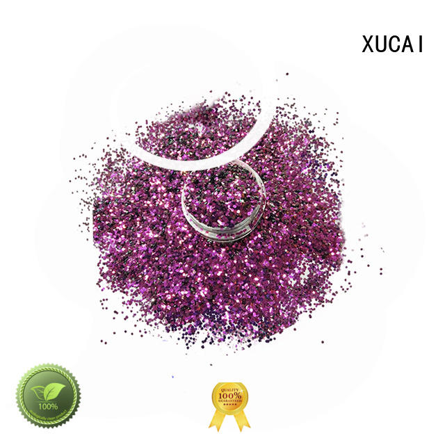 wholesale UV glitter polyester XUCAI company
