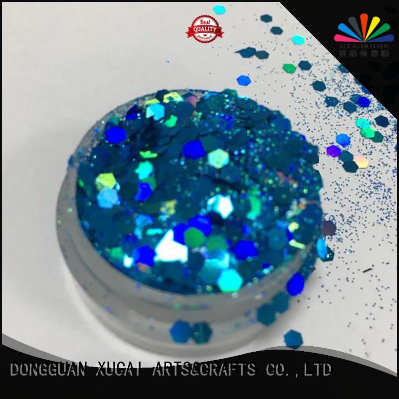 Xucai nontoxic cosmetic grade glitter wholesale for arts