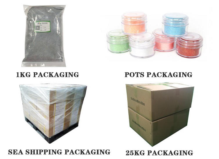 polyester glitter powder with pe inner pack for leather