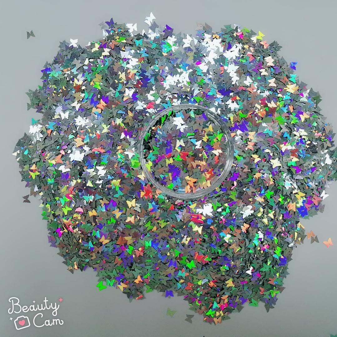 holographic nail powder effect heart resistant XUCAI Brand holographic glitter