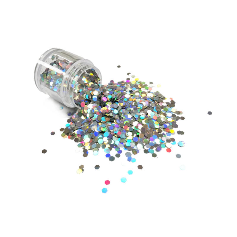 holographic silver glitter solvent resistant PET material LB100    Product Description 1.Holographic effect, super shining silve