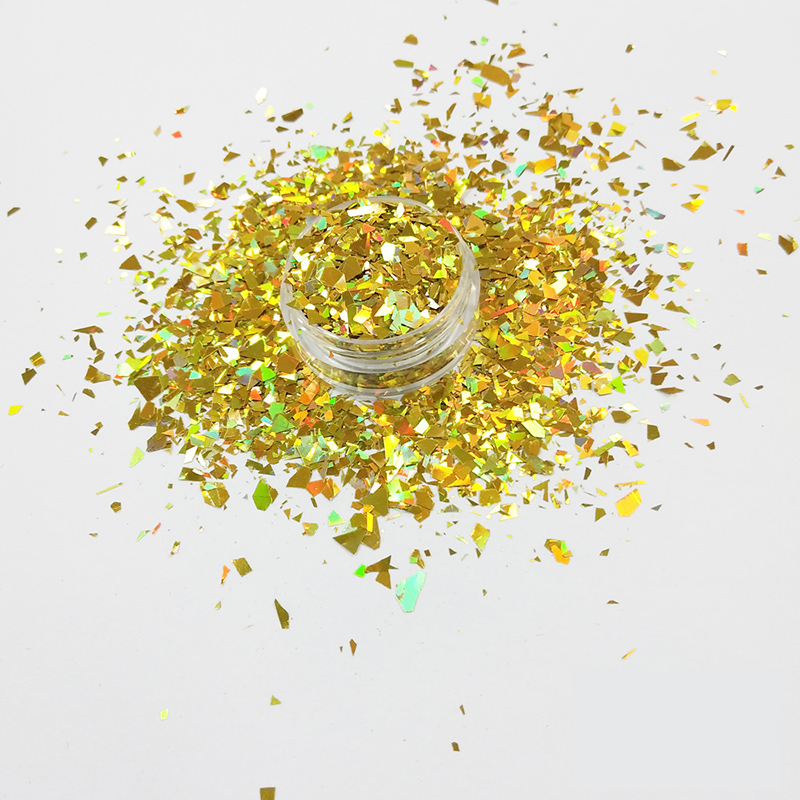 XUCAI-Wholesale bulk glitter powder eco friendly material holographic Gold color LB200