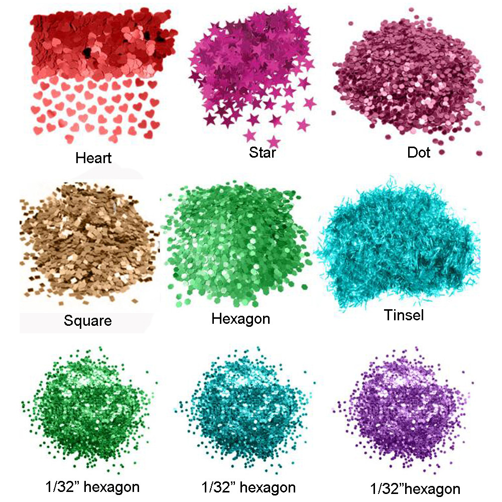 XUCAI-Fashion Popular Special Shape Glitter Powder Like Moon Star Heart-1