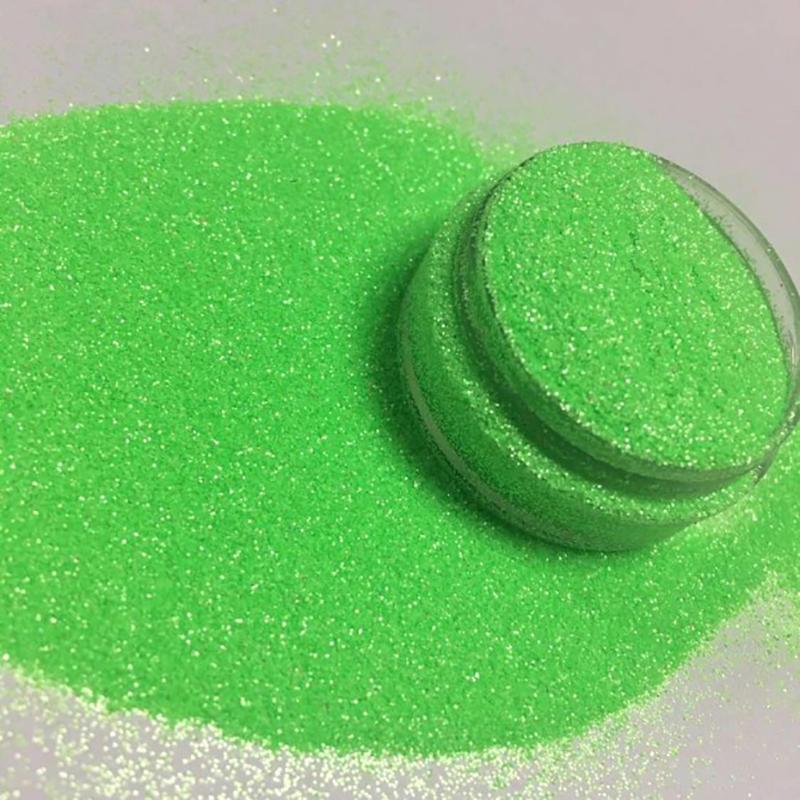 Glitter factory non-toxic pet glitter for crafts  art pearl fluorescent green glitter