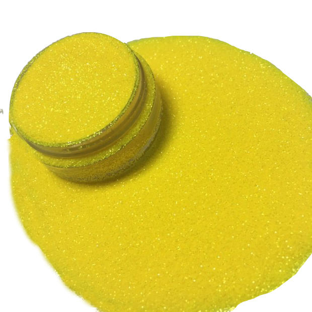 1.Glitter powder polyester for crafts and arts pearl fluorescent Yellow