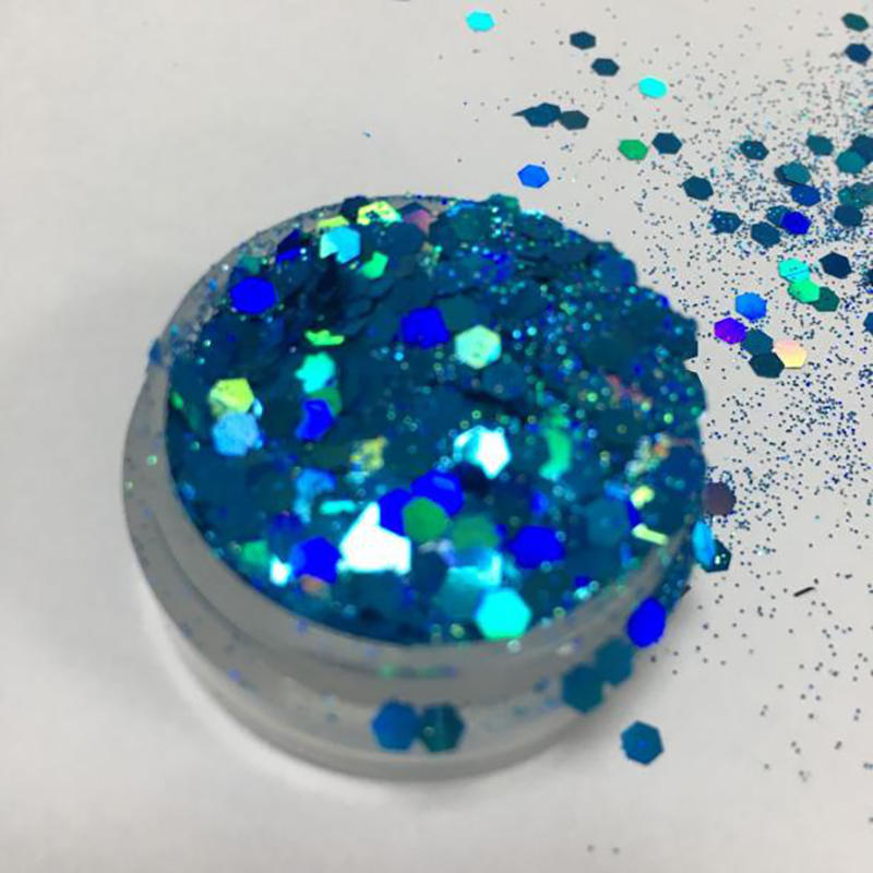 Hot selling holographic chunky glitter powder for Christmas CG7