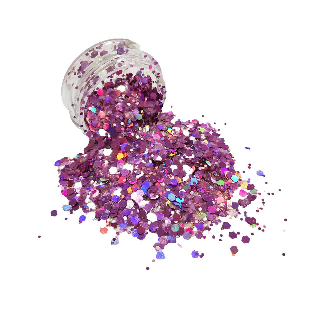 Multi-color mixed cosmetic chunky glitter CG41