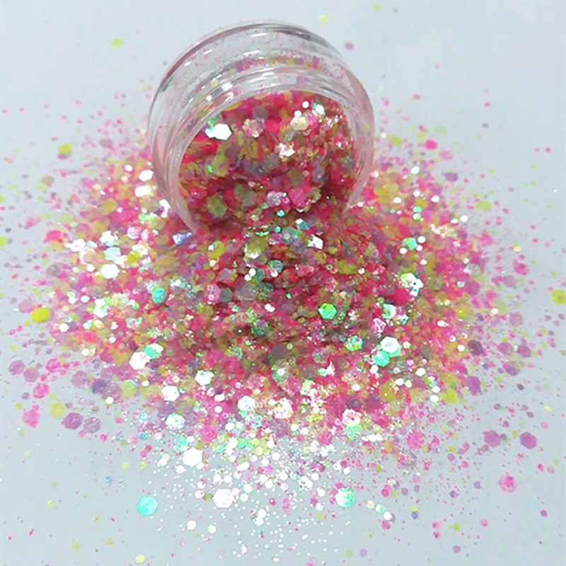 XUCAI-High-quality Wholesale Multi-color Polyester Chunky Glitter-1
