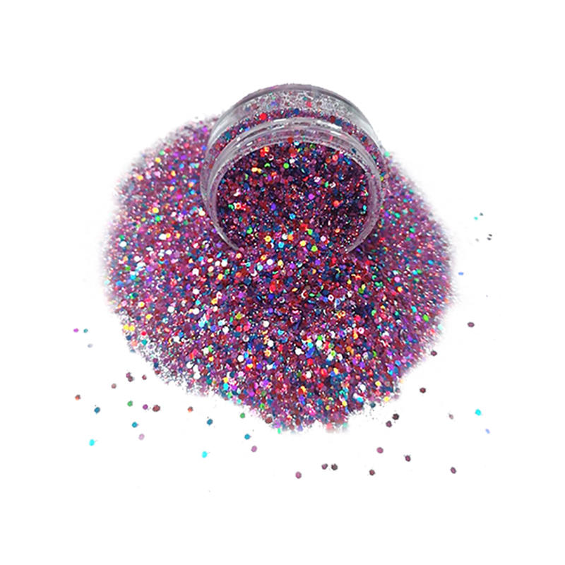 Supply polyester cosmetic chunky glitter powder for face and body decoration