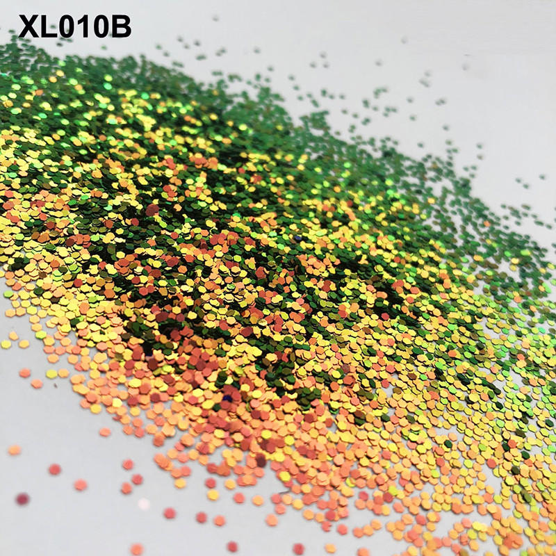 XUCAI various shape colors glitter quick shipping for printing