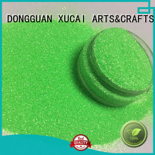 fluorescent holographic XUCAI Brand cosmetic glitter factory