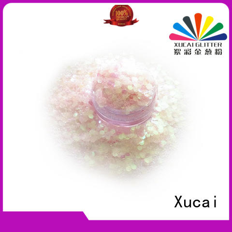 Xucai fine nail chunky glitter price for cosmetic