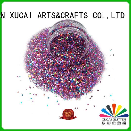 Xucai fine chunky glitter powder for nail decoration
