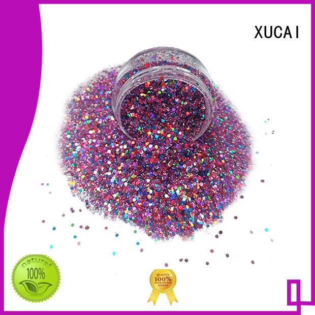 chunky gold glitter best for nail decoration XUCAI