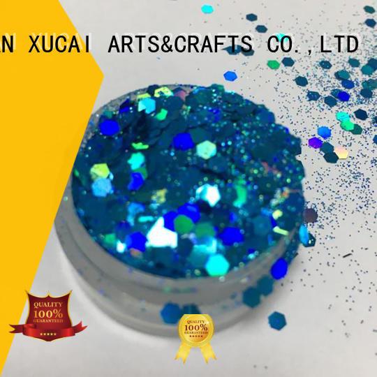 Xucai fluorescent cosmetic glitter supplier for arts