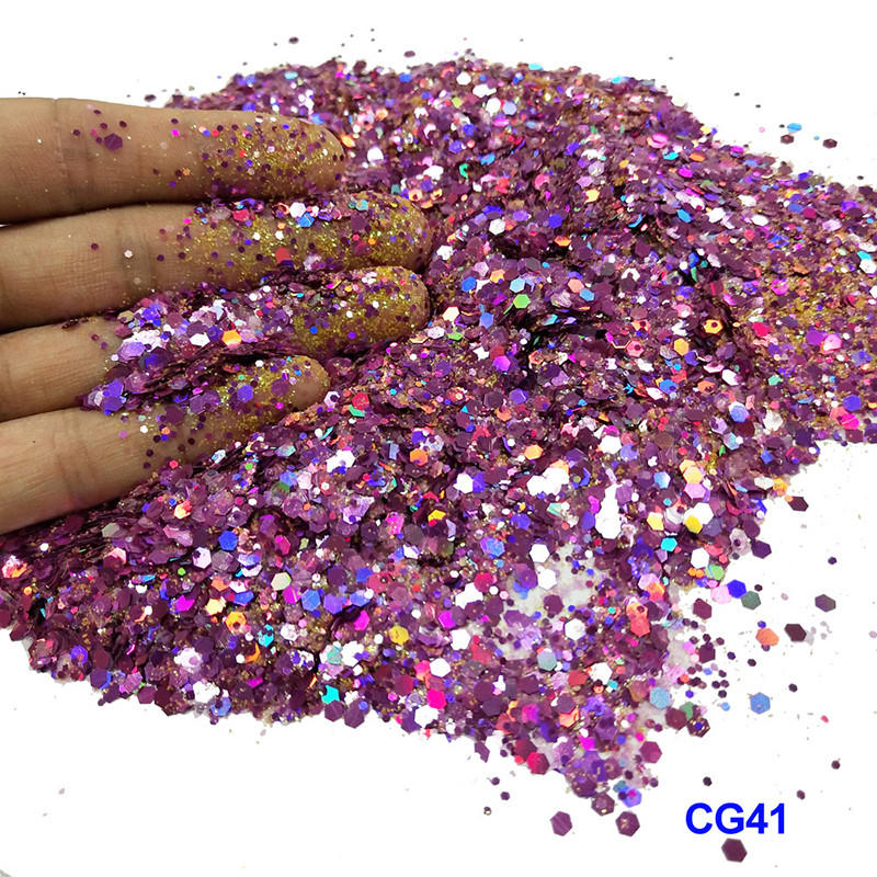 XUCAI-Best Multi-color Mixed Cosmetic Chunky Glitter Cg41 Manufacture-1