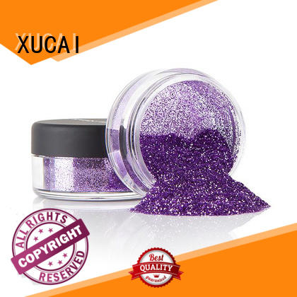 XUCAI polyester bulk glitter suppliers with pe inner pack for fabric
