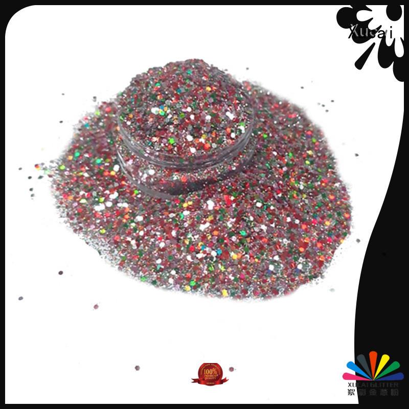 Xucai fluorescent glitter manufacturer powder for christmas craft decoration