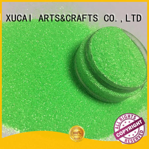 XUCAI Brand holographic green cosmetic glitter pet