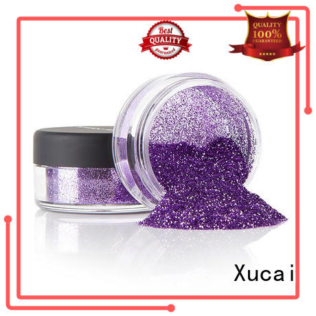 Xucai eco friendly colorful glitter heat resistance for leather