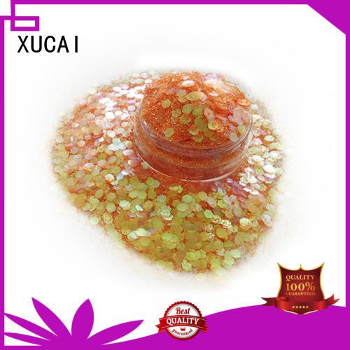 XUCAI Brand multicolor polyester custom chunky glitter vans