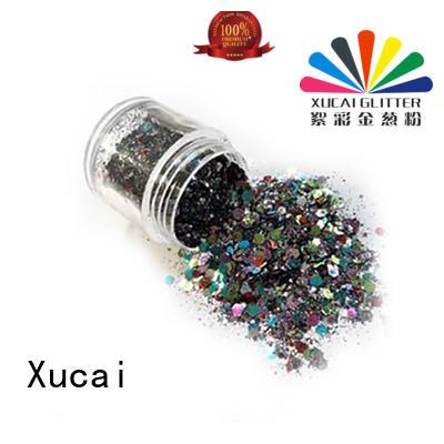 Xucai ployester glitter metal with pe inner pack for decoration