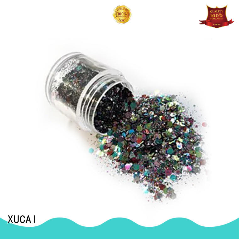 best bulk glitter suppliers with pe inner pack for fabric XUCAI