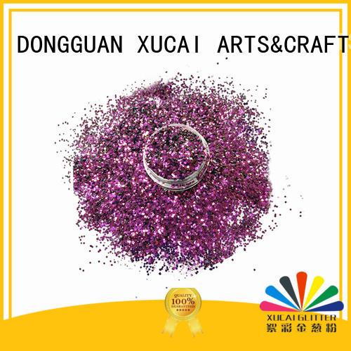 powder bulk change UV glitter polyester XUCAI Brand