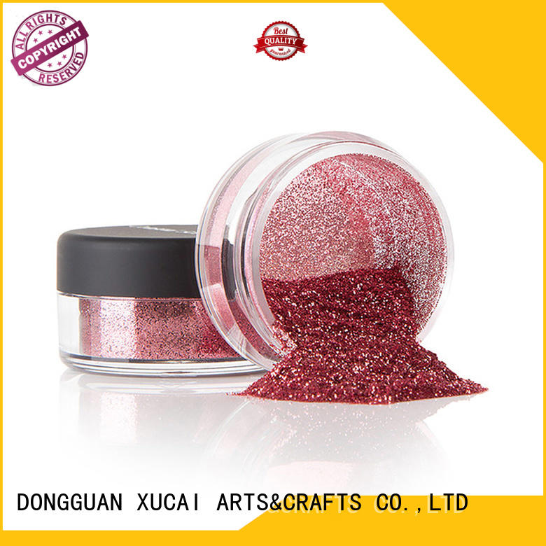 eco friendly metallic glitter with pe inner pack for glass