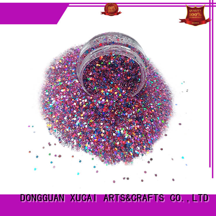 XUCAI polyester chunky cosmetic glitter superior quality for cosmetic