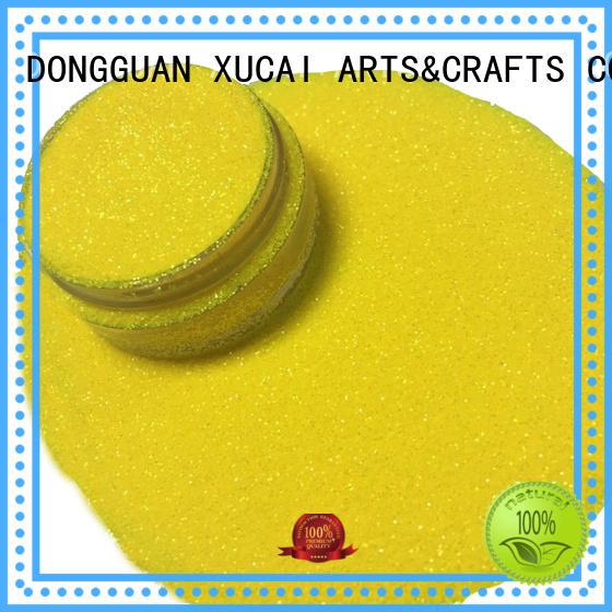 XUCAI Brand pet yellow cosmetic glitter powder