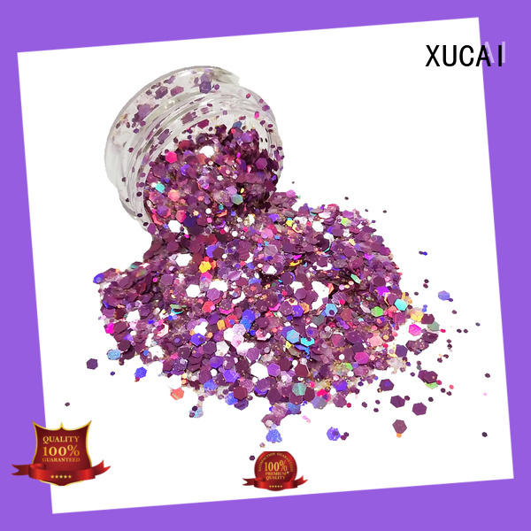 XUCAI polyester chunky glitter manufacturer for nail decoration