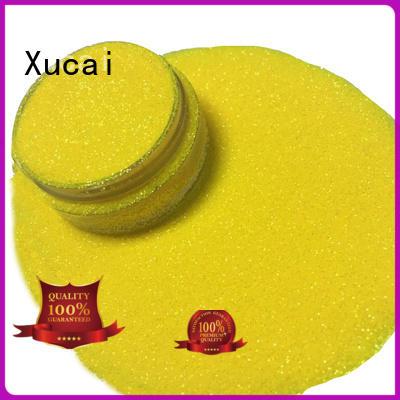 Xucai rainbow iridescent glitter supply for glass