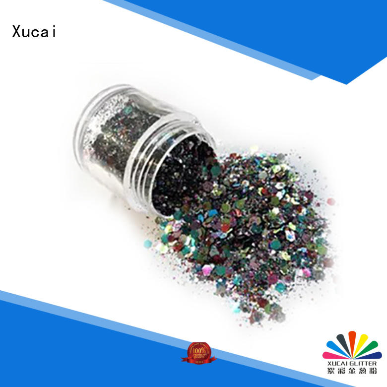 Xucai glitter powder with pe inner pack for decoration