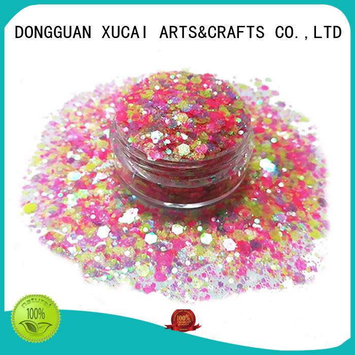 professional chunky glitter makeup best for nail decoration XUCAI