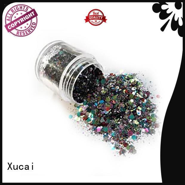 Xucai b0416 metallic glitter powder heat resistance for leather