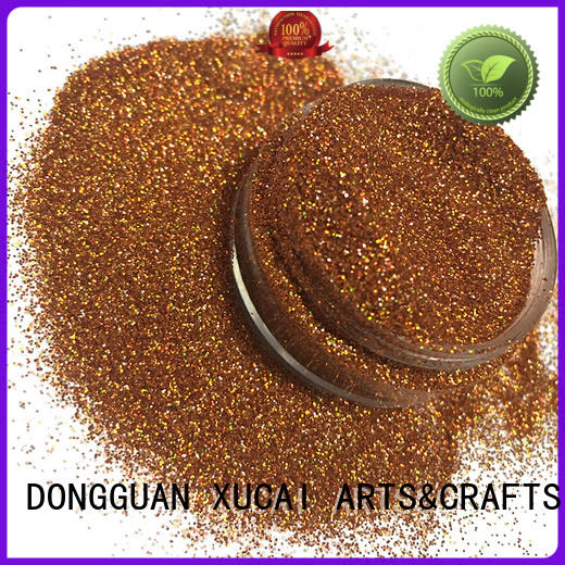 Xucai gold holographic glitter powder laser rede for crafts