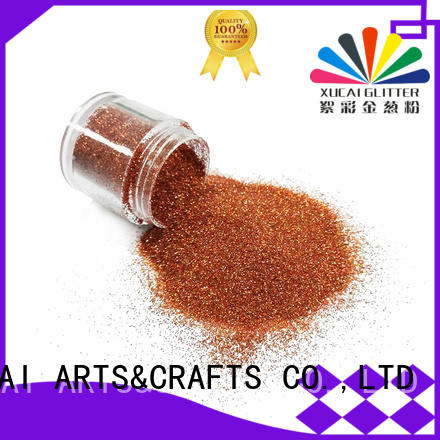 Xucai glitter powder manufacturer for leather