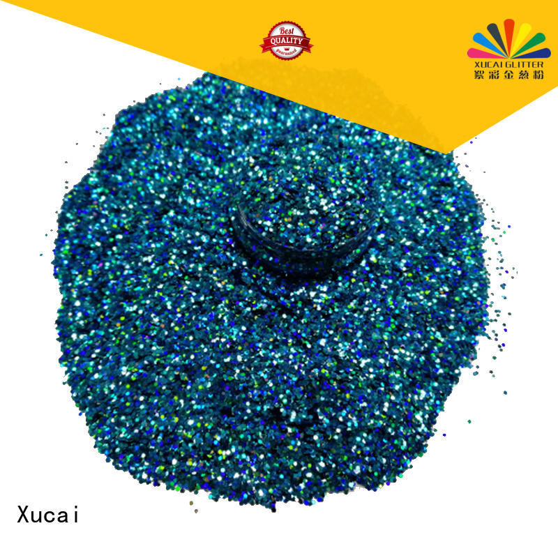 Xucai holographic glitter laser rede for crafts