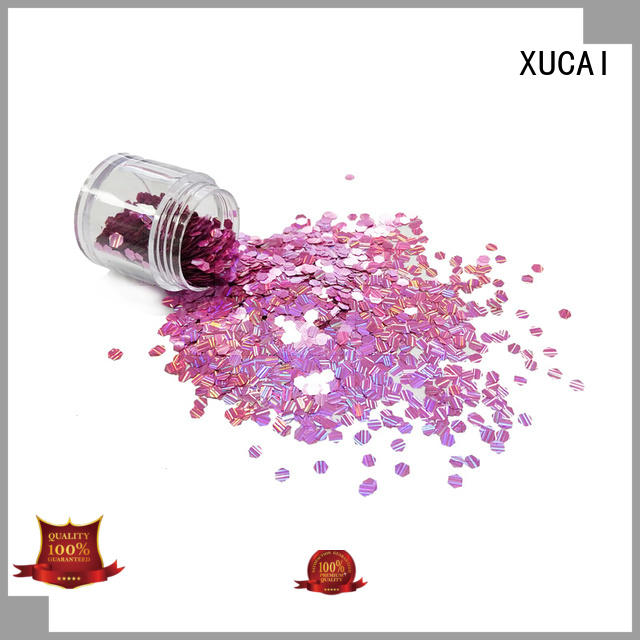 heart color dot special holographic glitter XUCAI
