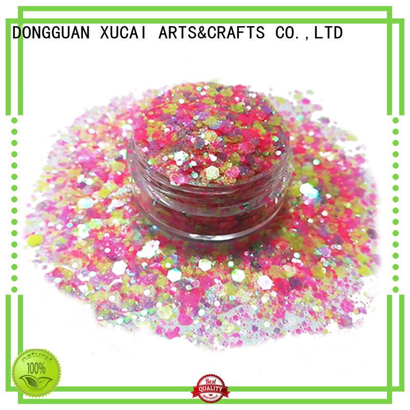 Xucai chunky body glitter price for cosmetic