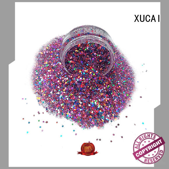 XUCAI Brand colors chunky powder custom chunky glitter vans
