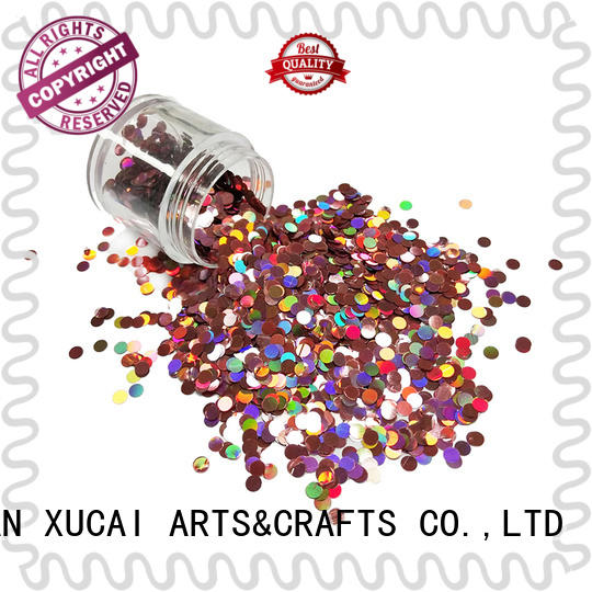 Xucai silver holographic glitter supplier for body