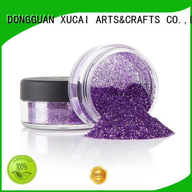 Xucai multi color glitter metal with pe inner pack for fabric