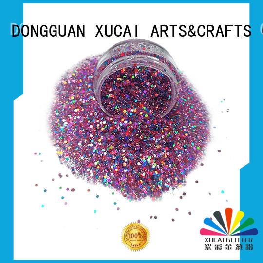 decoration chunky glitter body different XUCAI company