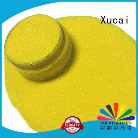 Xucai rainbow iridescent glitter supplier for leather