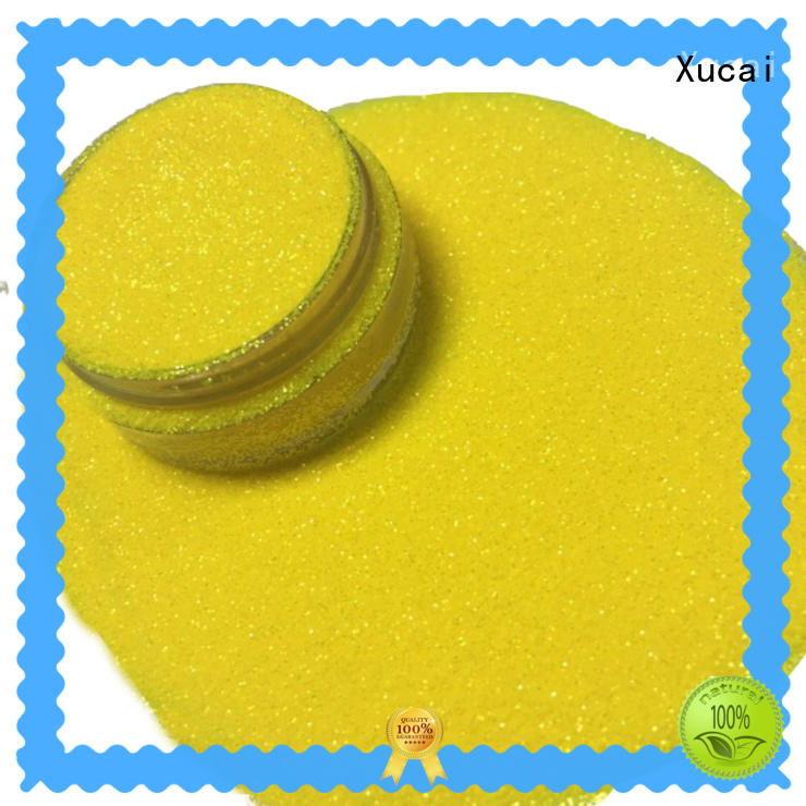Xucai colorful rainbow glitters supply for leather