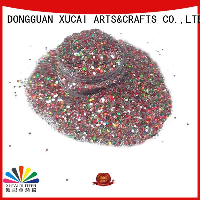 Xucai cosmetic glitter manufacturer customization for nail