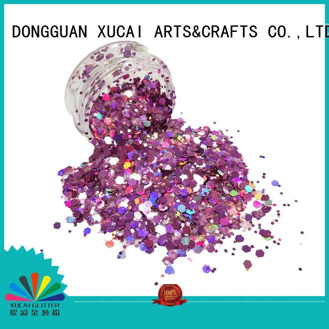 Xucai nails chunky glitter powder for cosmetic